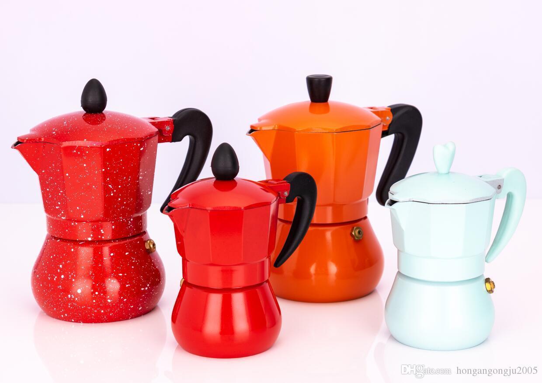 Caffè moka in alluminio del caffè espresso caffettiera a filtro Pot Macchina da caffè Moka 1 tazza / 3cup / 6cup / 9cup / 12cup Piano cottura e caffè