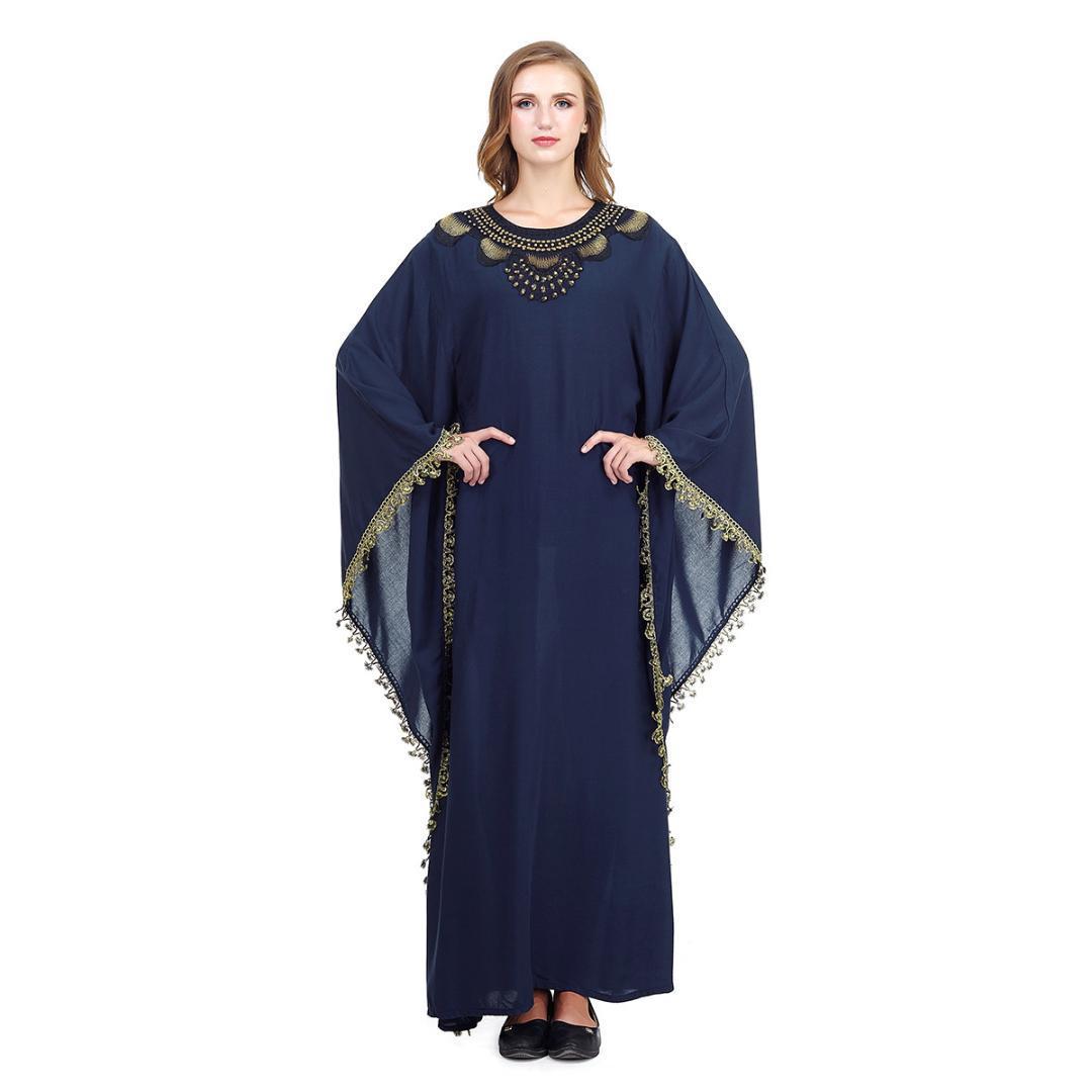 2019 Nuovo vestito dai musulmani Abbigliamento Donna islamica marocchino caftano merletto del ricamo allentato abaya Robe Dubai Abaya turchi Abbigliamento