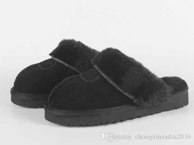 Горячий продавать австралийские классические сапоги теплые хлопка мужчин и женщин тапочки коровьей Баотоу dlippers Snow Boots Рождественский подарок размер 34-45