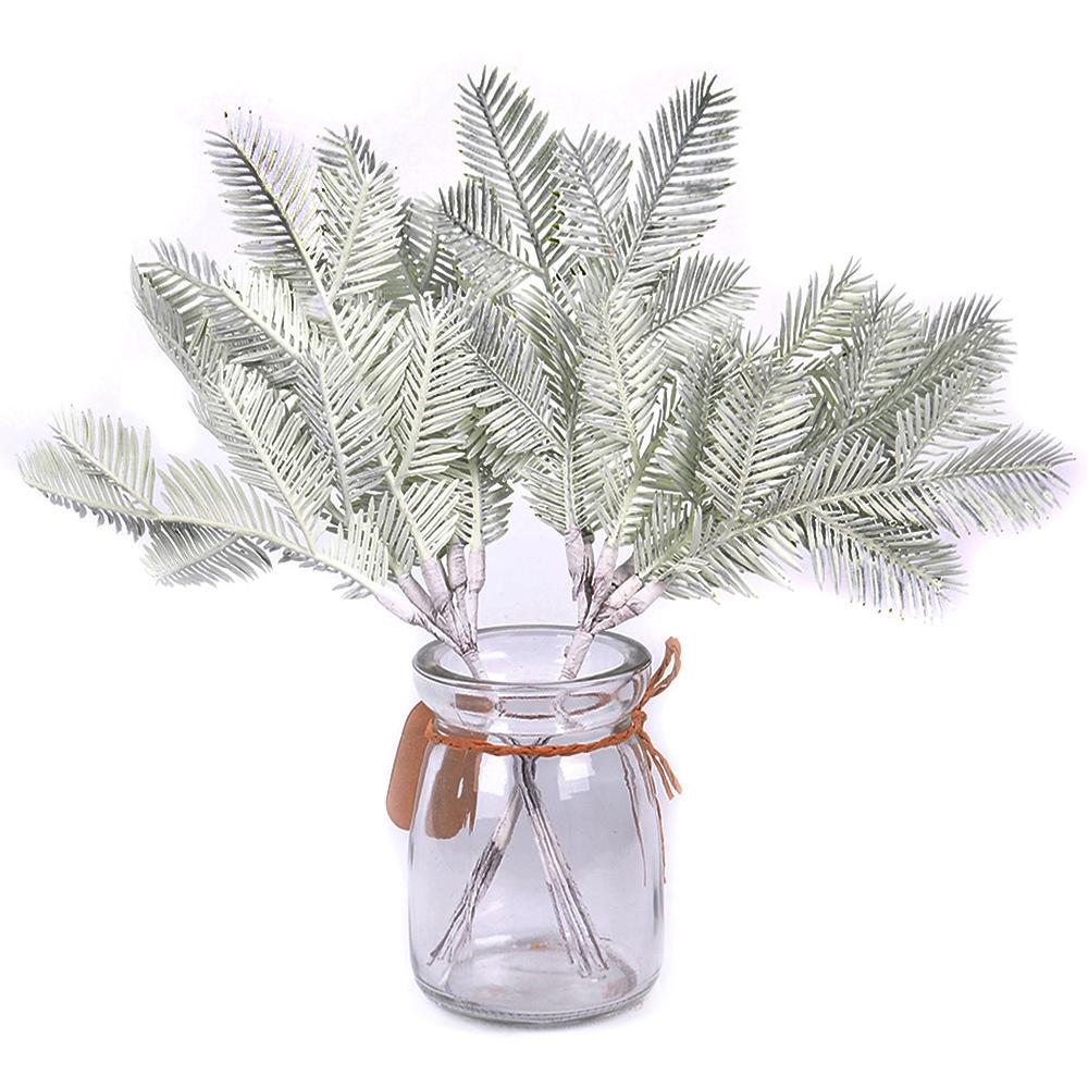 6pcs/lot Pine Needle Leaf Artificial Flowers For Wedding Home Decoration Diy Handcraft Wreath Gift Scrapbooking Fake Flowers