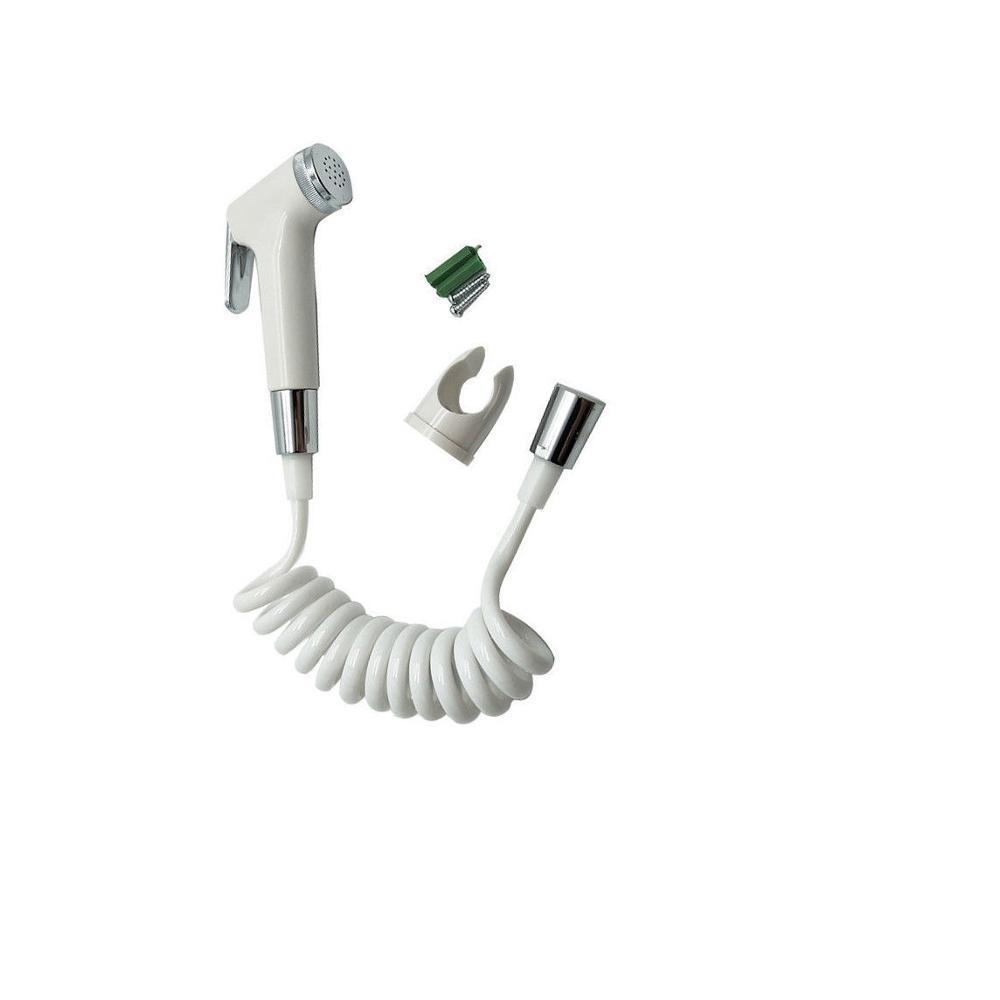 화이트 크롬 화장실 청소 세트의 플라스틱 휴대용 비데 분무기 키트 ABS