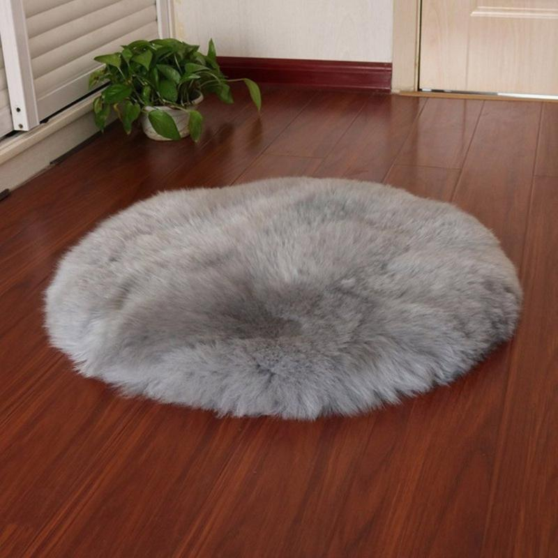 New Soft Faux Fur lana soggiorno divano soffici tappeti Tappeti da letto coprimaterasso per porte e finestre rotonde Tappeti Tappeti 60cm Decor J5
