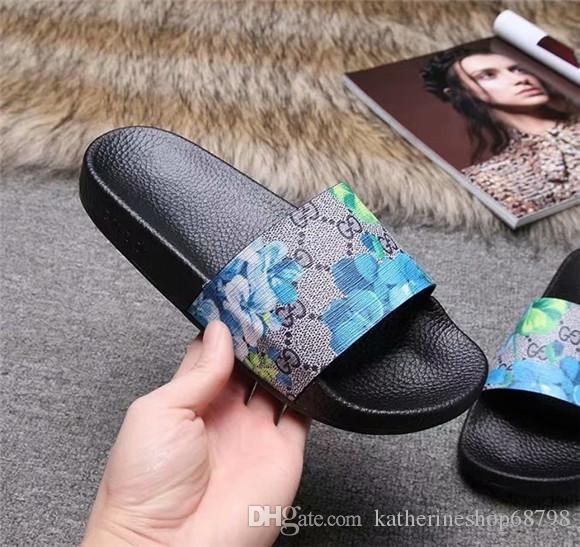 Hombres Mujeres de diapositivas sandalias zapatos Designer22ss Luxuryos diapositivas verano plano de la manera resbaladizo con densamente las sandalias del deslizador de las chancletas 36
