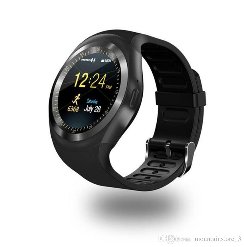 Bluetooth Y1 Montre intelligente Relogio Android SmartWatch Appel téléphonique GSM Sim Caméra à distance Information Affichage Sport Podomètre