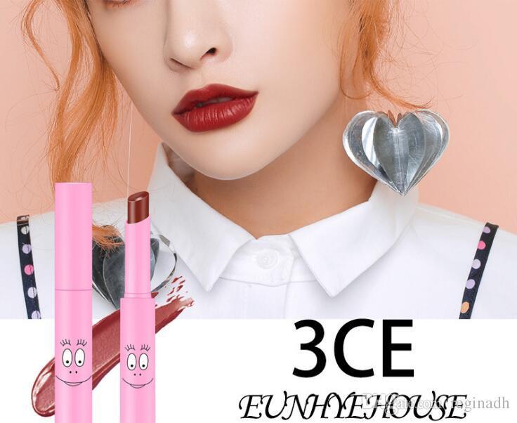 Hot 3CE Eunhye House Rotating lipstick Makeup Lipstick Matte Moisturizing Non-stick Cup Makeup lip gloss Cosmetic