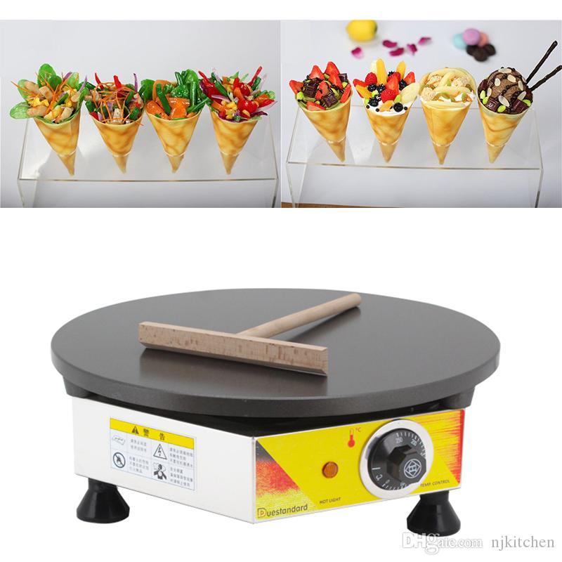 110v 220v Électrique Non-adhésif 40 CM Diamètre Français Crêpe Maker Électrique Pancake Rond Machine De Fer Baker Baker Faire Pan