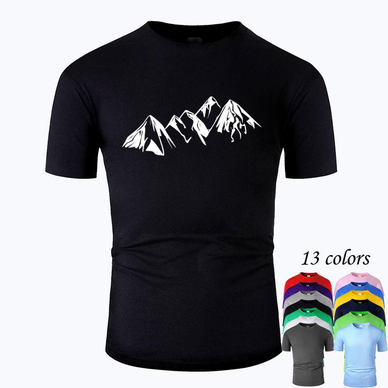 Dağ Hattı Sanat Ç Boyun Pamuk T gömlek erkekler ve kadın Unisex Yaz Kısa Kollu tasarlanan Casual Tee m01037 MX200509