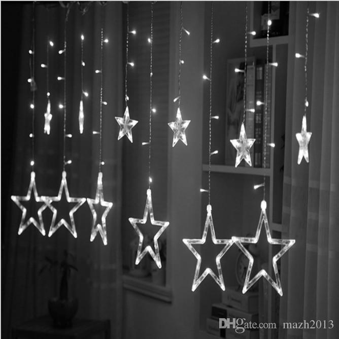 SXI 8 Modes Controller Twinkle LED star curtain string lights for Wedding Party Home Garden Bedroom Outdoor Indoor Wall Decor