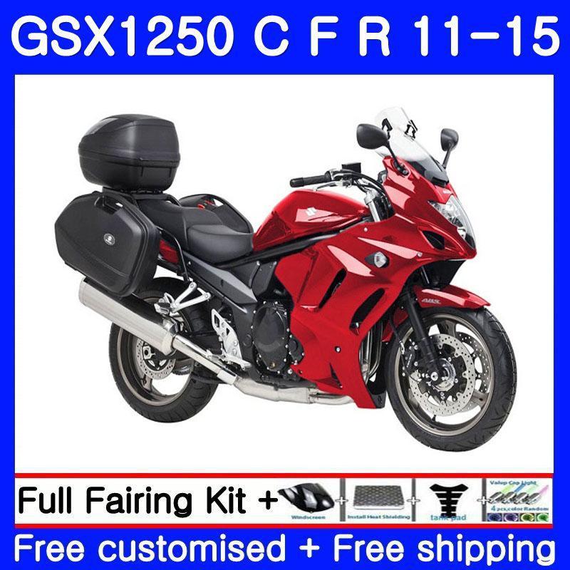 Corpo Para SUZUKI Bandido GSX1250F GSX1250FA GSX1250 C 11 12 13 14 15 310HM.1 GSXF1250 GSX1250C 2011 2012 2013 2014 2015 Fábrica de Carenagem vermelho