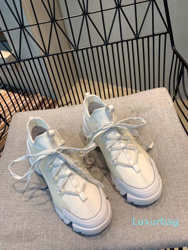 Moda Sneaker Zeppe Flats Piattaforma dei fannulloni del vestito della tela da ginnastica dal design di lusso pelle bianca nera delle donne pattini casuali