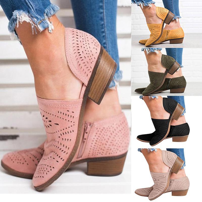 2019 Bahar Sonbahar patlamalar Avrupa Amerika popüler eğlence kadın sandalet boyutu 35-43 Hollow düşük topuklu ayakkabılar