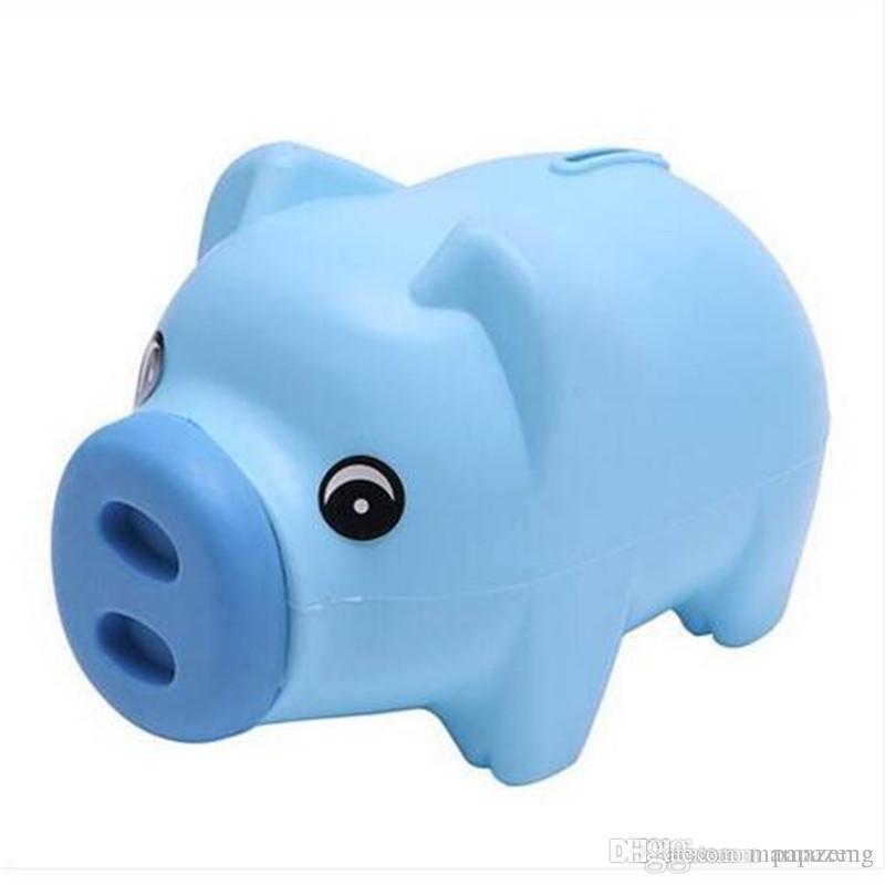 Sales!!! Cartoon Piggy Bank Cute Children Money Box Birthday Gift Saving Tank jar 3 Candy Color Pig Saving Box Coins Saving piggy bank Car