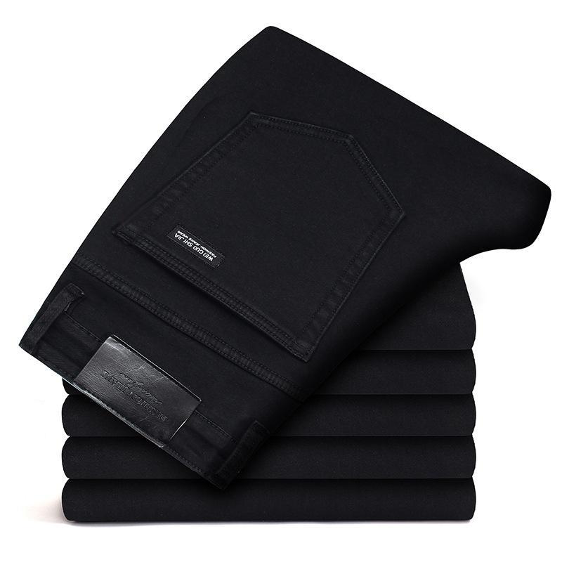 New Men Jeans Black Jeans Trousers Men Clothes Elasticity Skinny Business Casual Male Denim Slim Pants Classic Homme Pantalones CX200701