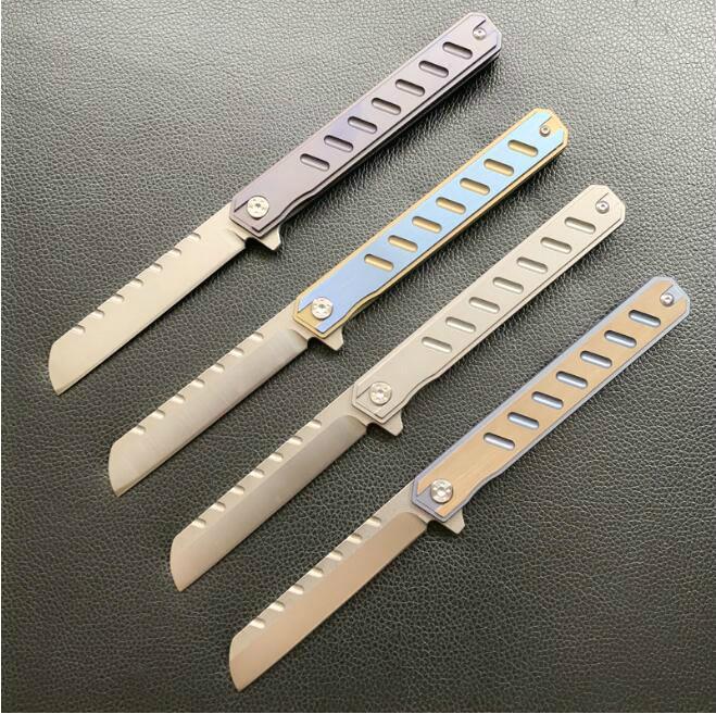 cephel eafangrow C088 D2 Rulman Titanyum alaşımlı kolu CNC katlama bıçak Pocket Knife Survival Kamp Açık EDC aracı Bıçaklar 05247