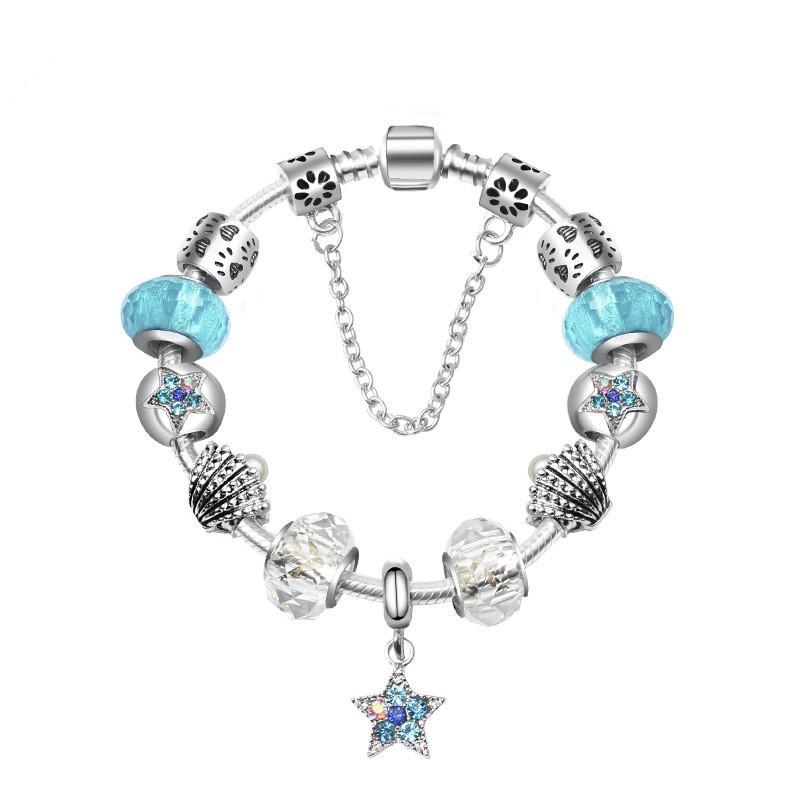 Fashion Blue Ocean europäischen Charme-Korn-DIY Armband für Pandora Style Frauen Geschenke