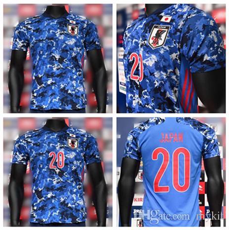 2020 2021 일본 축구 유니폼 팬들 플레이어 홈 블루 미나미 카가와 혼다 오카자키 ATOM KUBO 여성 여성 남성 + 어린이 축구 셔츠 camisetas
