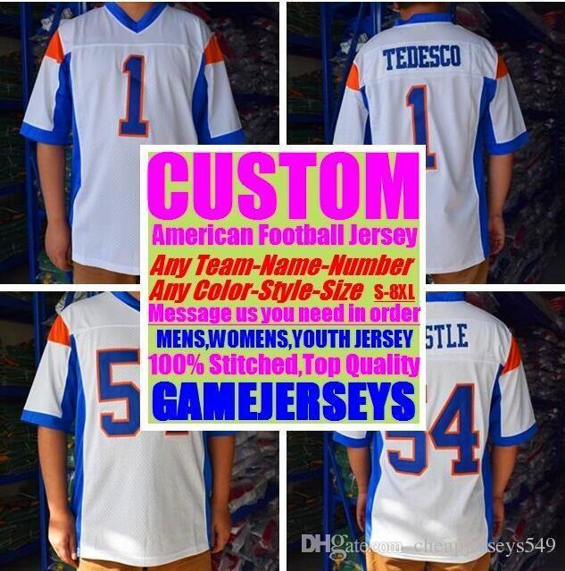 Personalized american football jerseys Custom Washington Miami college authentic cheap baseball basketball mens womens youth USA 4xl league