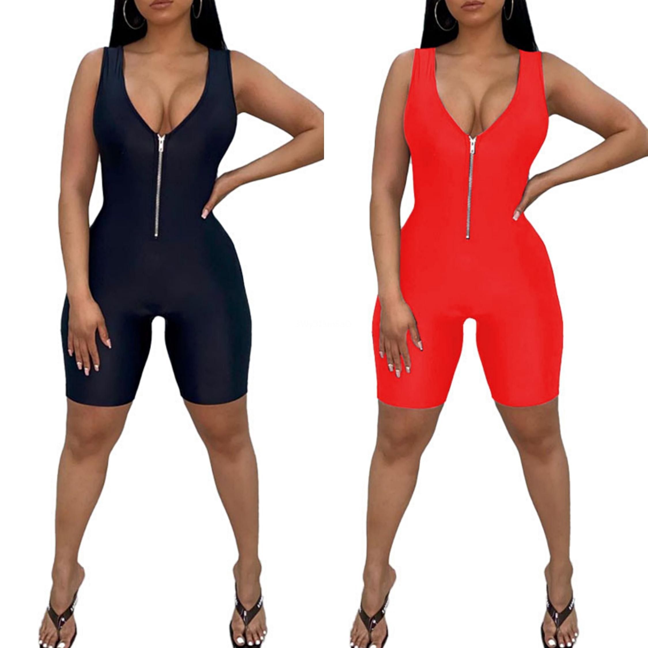 Nero Bianco Plaid sexy tuta 2020 Set Piece generale di estate Due Bassiera cinghia di spaghetti i pagliaccetti Womens Jumpsuit S-2XL # 57251