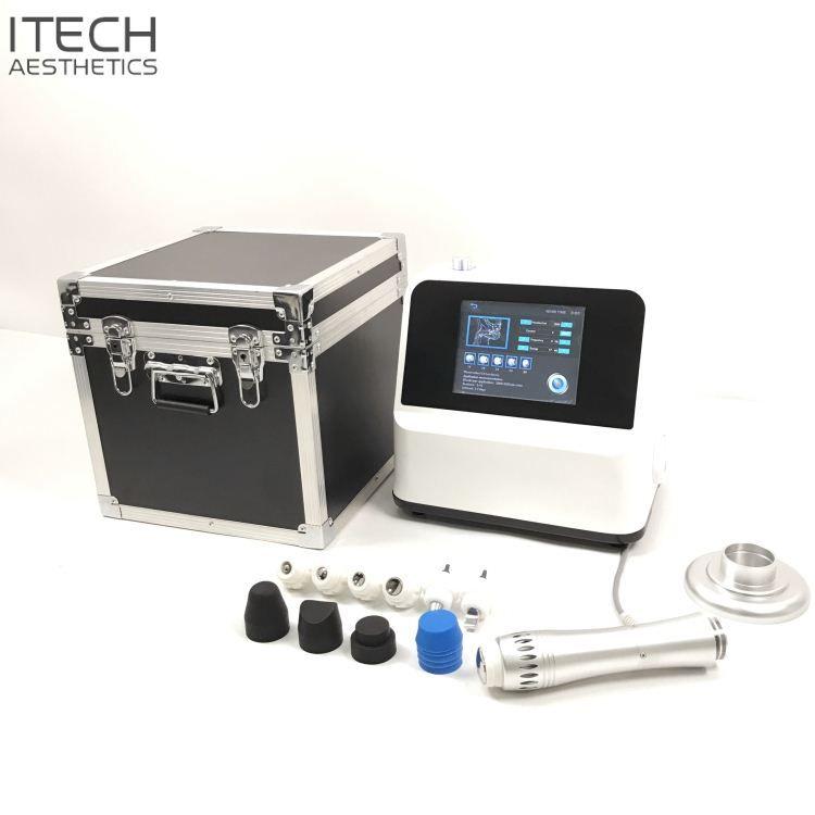 ED Ev Kullanımı için Taşınabilir ESWT Shockwave Terapi Makine Shockwave Sistemi Mobil Terapi Shockwave Cihazı Odaklı