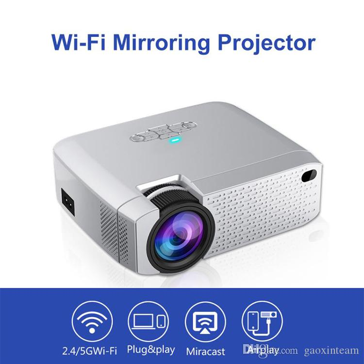 D40W WiFi Morroring Projector Support Miracast Airplay Android IOS system HD LED Portable home mini projector