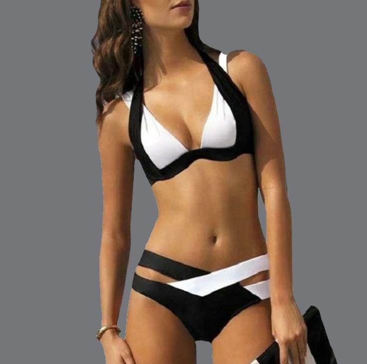 Summer Maillot De Bain Designer Women Fashion Panelled Contrast Color Two Piece Bikinis Designer Womens Swimwear