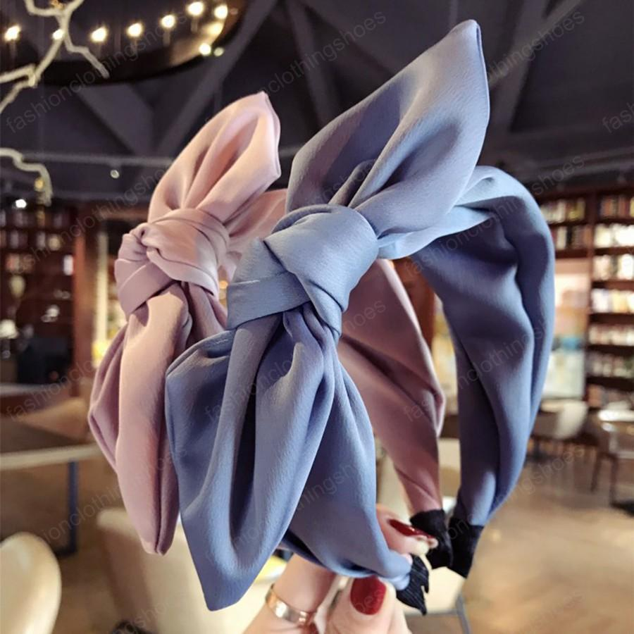 Serre-tête oreilles de lapin en tissu Bandeau Bow Femmes Filles cheveux Head Hoop Bands Accessoires pour fille Bandeaux Couvre-chef