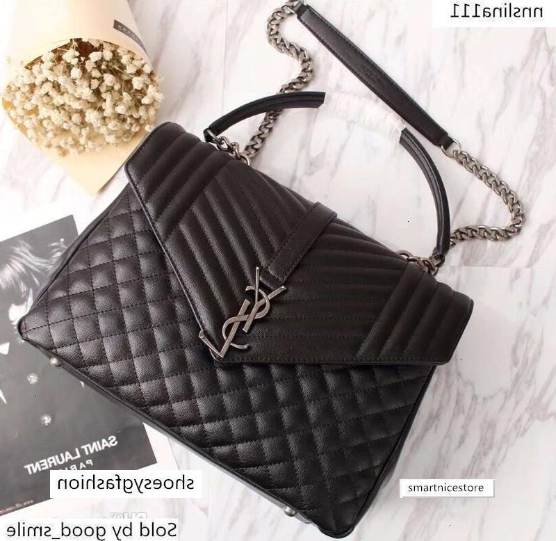 Bolsa de mujer negro genuino cadena de cuero 26681 del monograma de 32 * 26 * 13cm