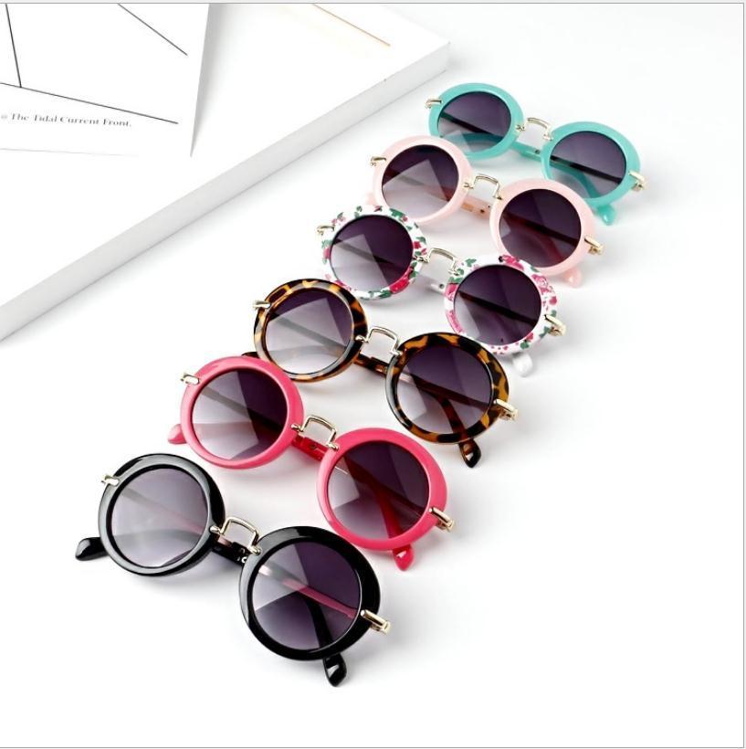 أطفال الرجعية ظلال الشمس الرضع نظارات النظارات الشمسية بنين بنات بنات الأطفال جولة نظارات نظارات 6 لون