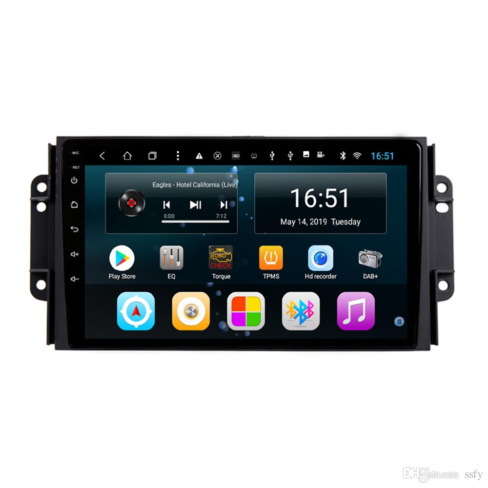 Android car player with precise GPS navigation Resolution HD 1024*600 radio AM FM bluetooth microphone for Chery Tiggo 3 3X Tiggo 2 9inch