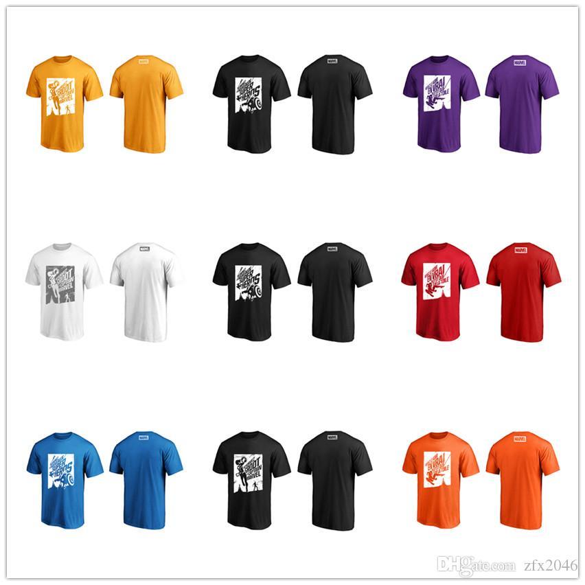 Marvel мужские дизайнерские футболки 2019 Капитан Америка Марка Марвел Человек-паук Мода досуг Повседневные рубашки Топы графические Весёлые тройники