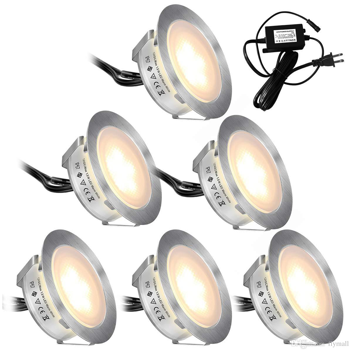 2020 Recessed Led Deck Lights Kits 6 Pack In Ground Outdoor Waterproof Ip67 Low Voltage Led Lights For Garden Yard Stair Patio Pool Deck From Flymall 28 28 Dhgate Com