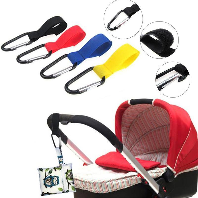 Convenient Shopping Carriage Bag Metal Clip Baby Stroller Accessories Pram Hooks Wheelchair Pushchair Car Hanger Hanging Strap