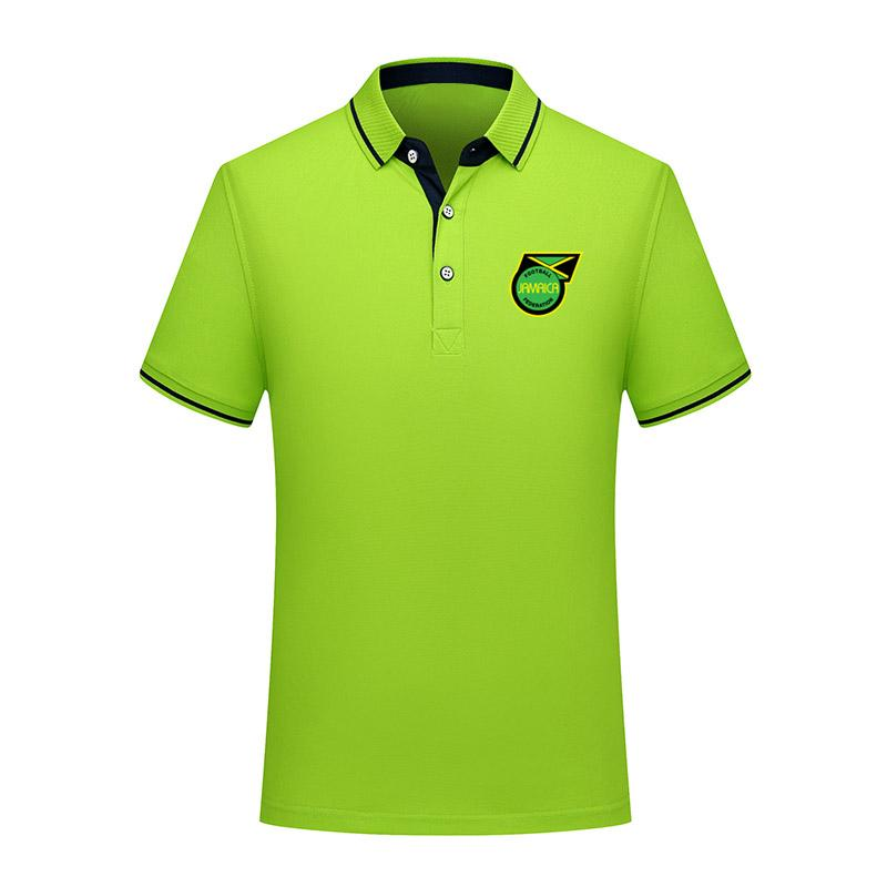 Polos Futbol Futbol Tişört Jersey Erkekler Polos eğitim 2020 Jamaika milli takım Futbol Tişört Futbol Kısa Kollu polos Spor