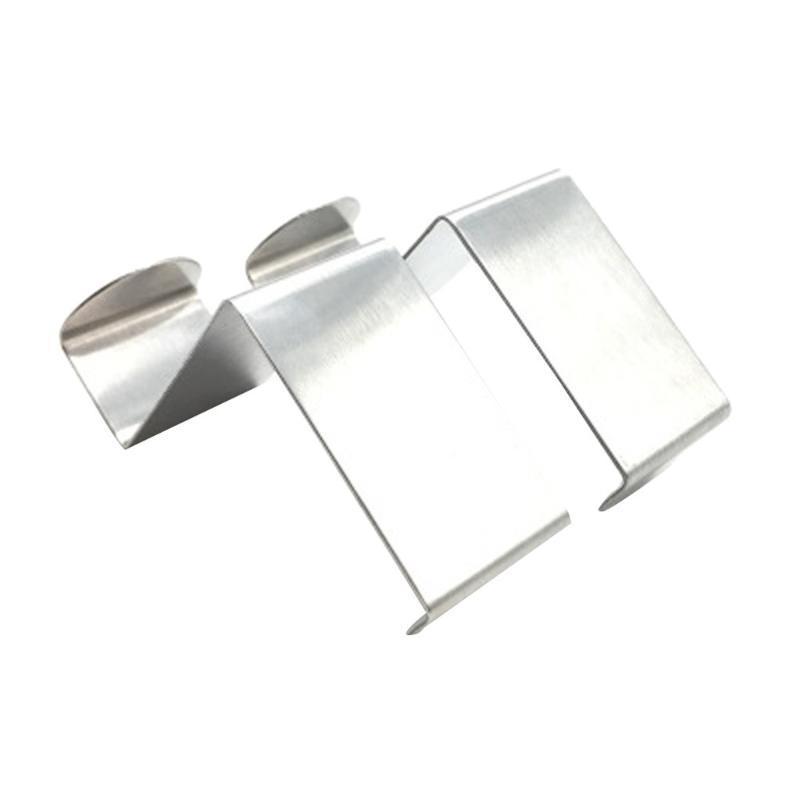 Comficent Gancho de Puerta Encima Reversible Acero Inoxidable Pesado Perchas de Puerta para el cuarto de ba/ño dise/ño de dormitorio abrigo Ropa 4cm