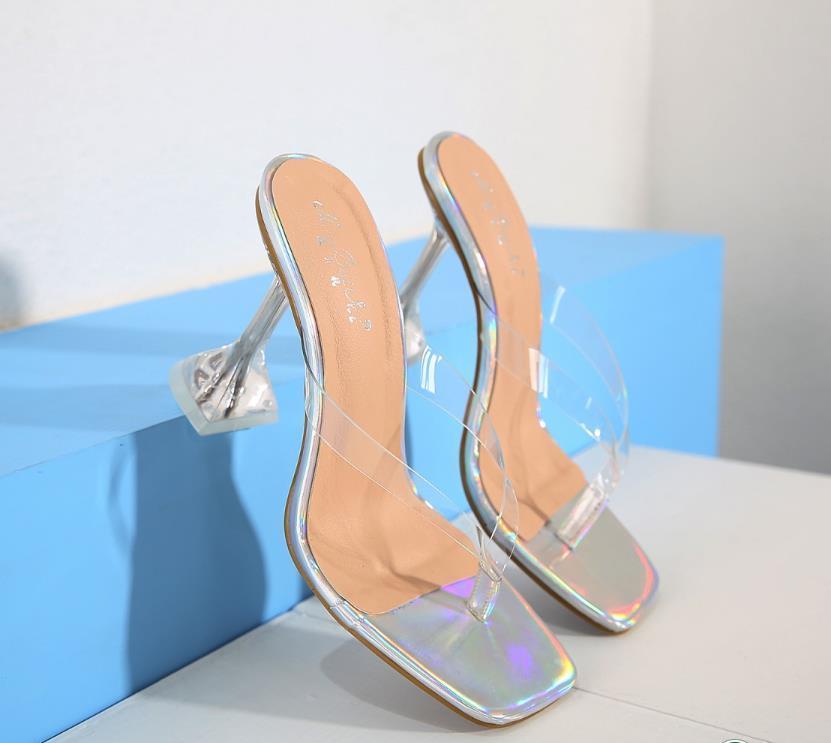 sexy silver V strap spool heel gladiator sandals luxury women designer shoes size 34 to 40 tradingbear