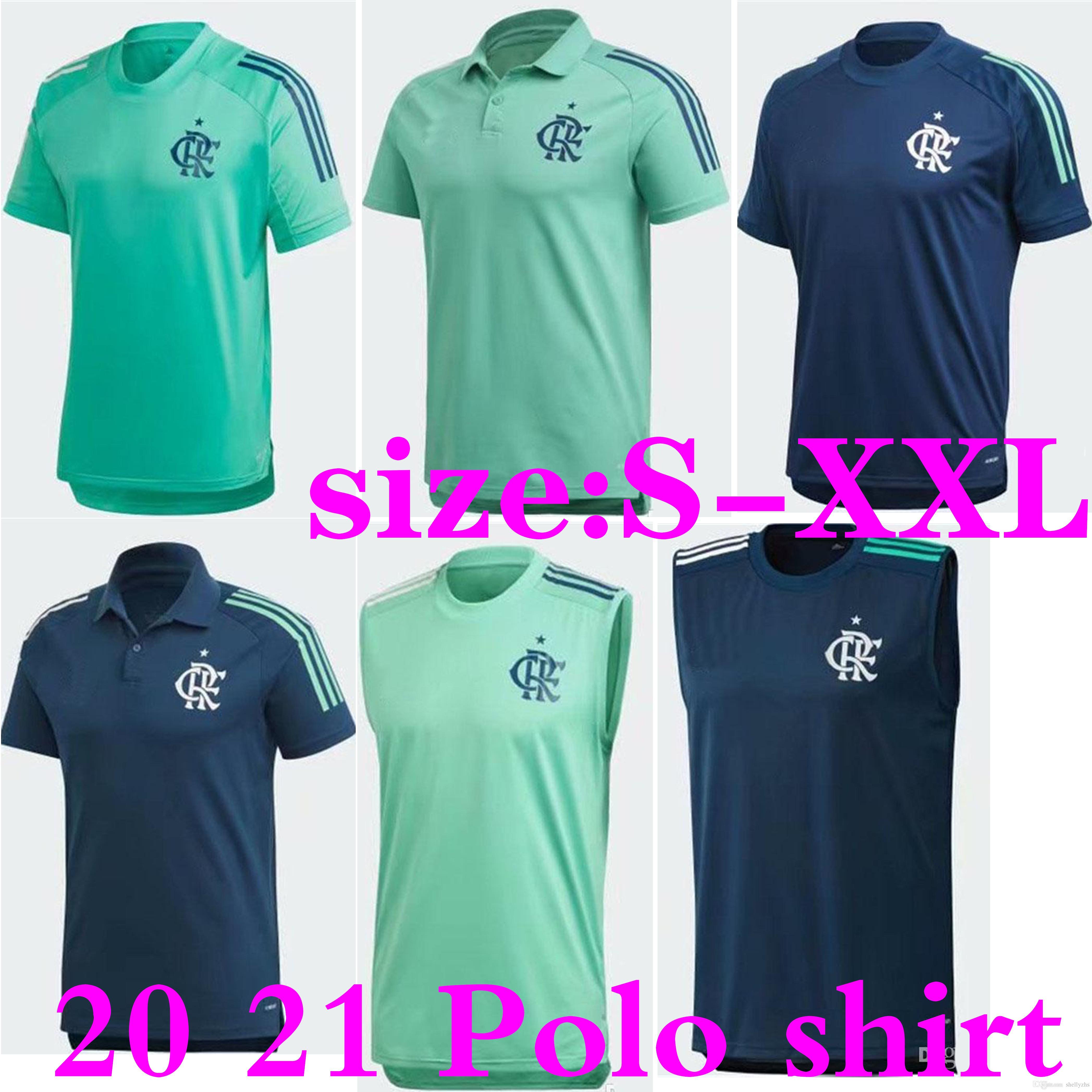 S-XXL 20 21 Flamengoj RJ Training Soccer Jersey 2020 Flamengo Polo Blue Football Camicie da calcio senza maniche Gilet da allenamento uniformi di calcio vendita
