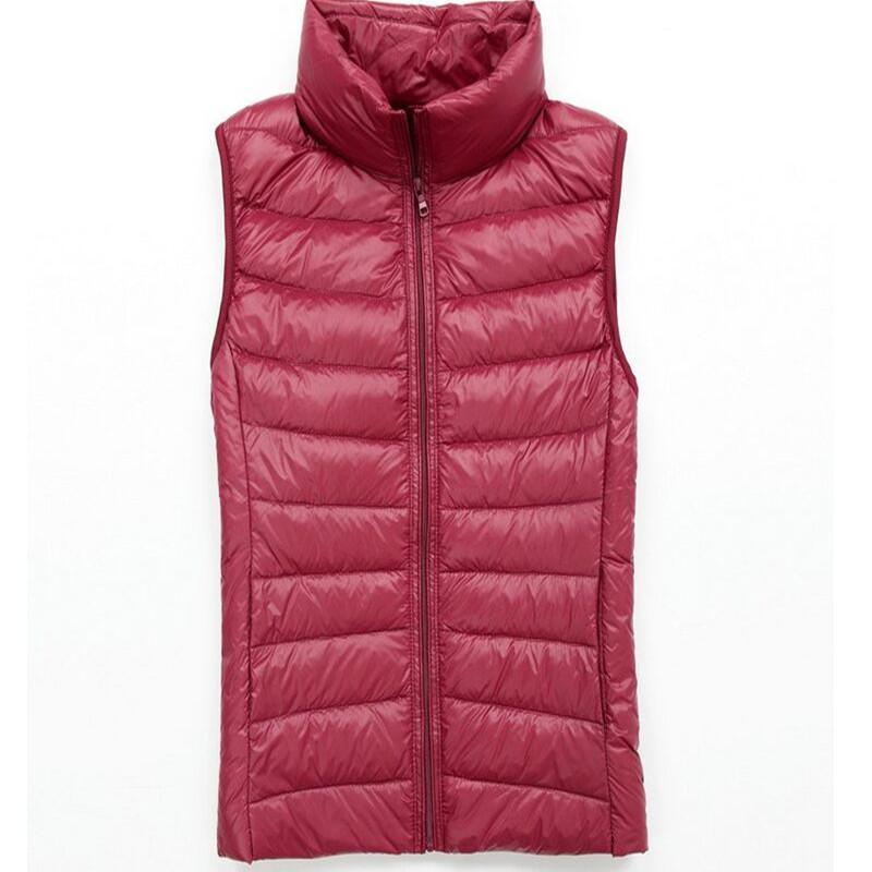 mulheres outono primavera de pato 90% branco para baixo do colete colete macio casaco colete quente fina do colete jaqueta Ultra Luz marca feminina