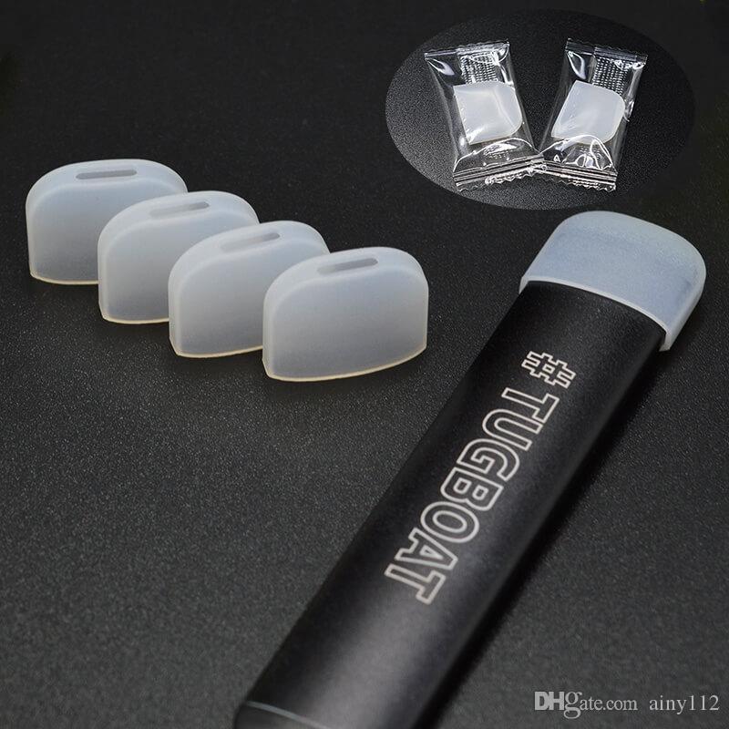 Remolcador Tigs cápsula de silicona Prueba de goteo Punta Manga de goma Cubierta desechable Boquillas Envolturas para Vape Pen Pods Accesorio DHL Free