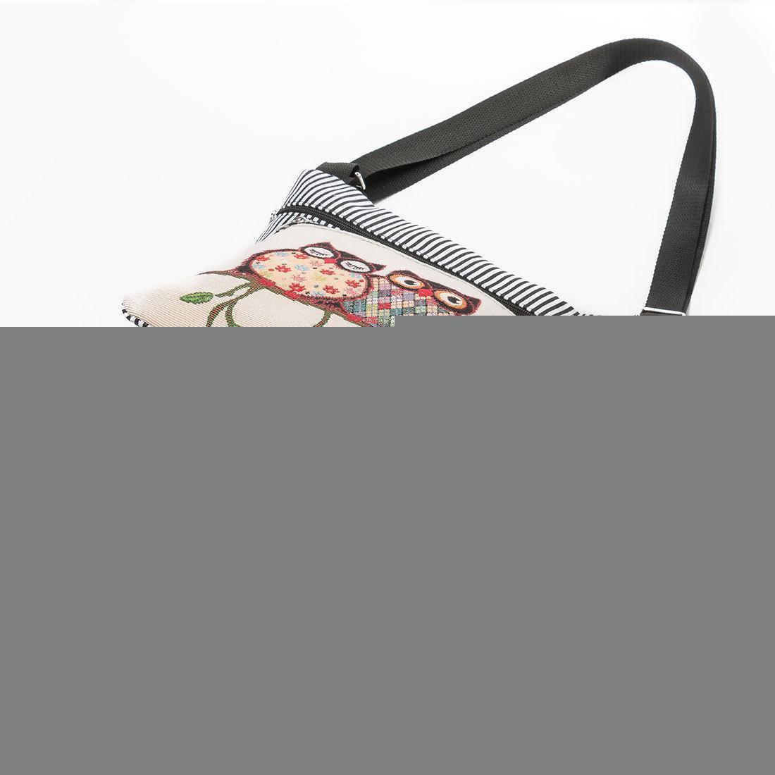 Borsa di nuovo donne ricamato gufo del Tote Borse Donna Borsa a tracolla borse postino della confezione attrazioni borsa a mano strisce pacchetto diagonale