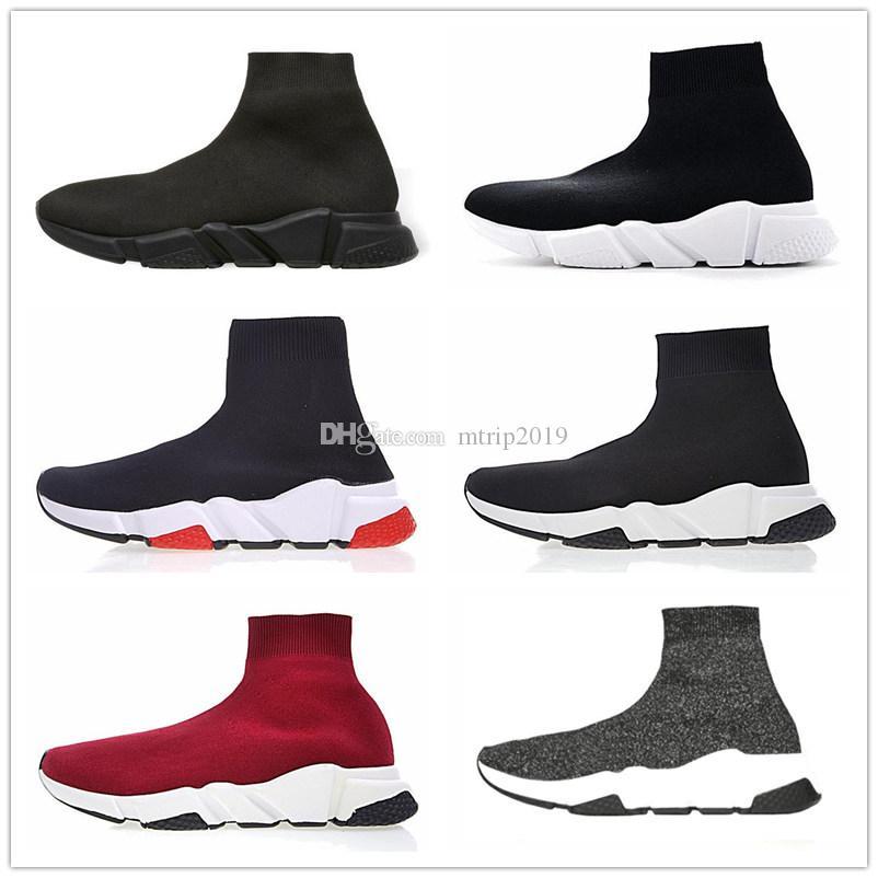 Balenciaga Yüksek Kalite Lüks Çorap Ayakkabı Hız Eğitmeni Koşu Ayakkabı Çorap Yarış Koşucular siyah Ayakkabı erkekler ve kadınlar Spor Tasarımcısı Eğitmenler Sneakers
