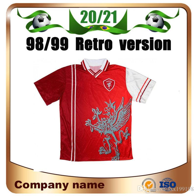 98/99 النسخة الرجعية Associazione Calcistica Perugia Calgio Soccer Jersey 1998/1999 Nakata Rapajc Petrachi قميص كولونيلو كرة القدم