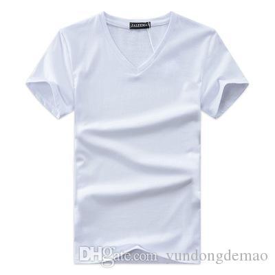 T-shirt da uomo Z55 2019 Nuova moda estiva O-Collo Maniche lunghe Stampe sottili T-Shirt Uomo Maglietta casual Top T-shirt Plus Size 5XL