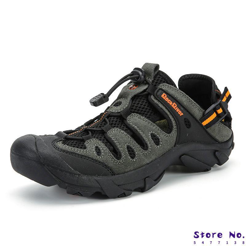 Yeni Erkekler Günlük Ayakkabılar Nefes Açık Sandalet İlkbahar / Yaz Trekking Sandalet Büyük Beden Erkek Dağcılık Spor ayakkabılar