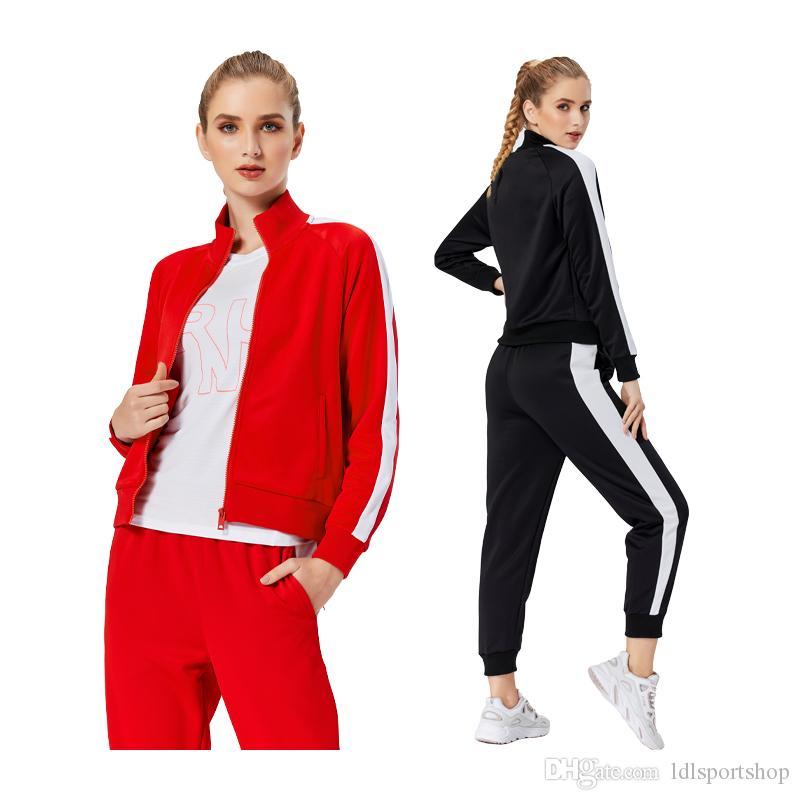 Women Sportswear Running Workout Set Loose Breathable Sports Female Suit Gym Actives Coat Pants Bodybuilding Yoga Set