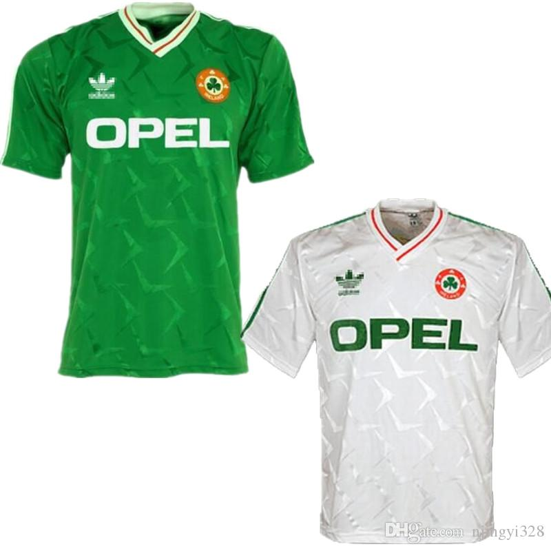 1990 Ireland retro soccer jersey 1990 world cup Ireland home green Soccer Shirt National Team Customized Away white Football uniforms Sales
