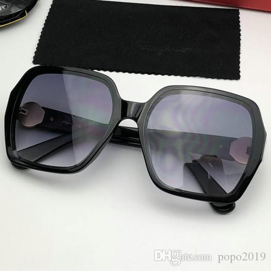 Gafas de sol de diseño de las mujeres 1096 degradado escudo LENES UV400 gafas de sol de la marca de moda de alta calidad con caja roja caja, paño, accesorios