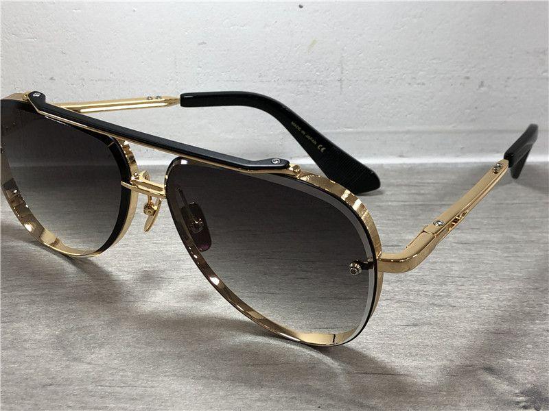 En kaliteli havacı güneş gözlüğü, gri-mavi güneş tonları, erkekler için lüks tasarım klasik sıcak satış güneş gözlüğü