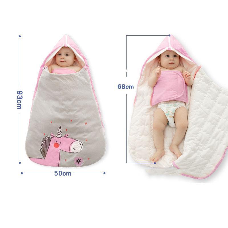 Весна Зима Новорожденный Конверт для младенцев спальный мешок Infant сна Sack Дети Постельные принадлежности Анти кик теплый спальный мешок AXA012