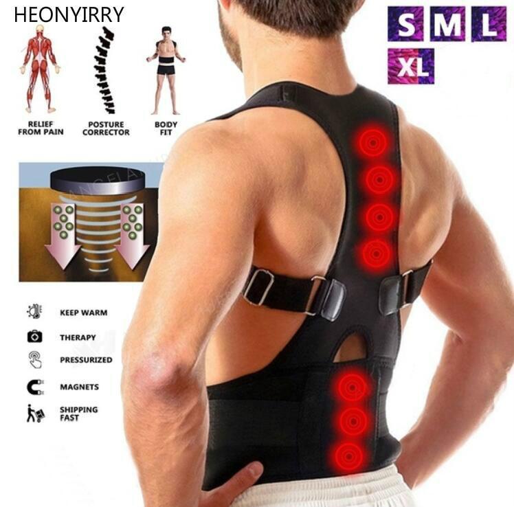 Correcteur de posture magnétique néoprène dos corset redresseur épaule ceinture arrière colonne vertébrale Ceinture de soutien pour hommes femmes