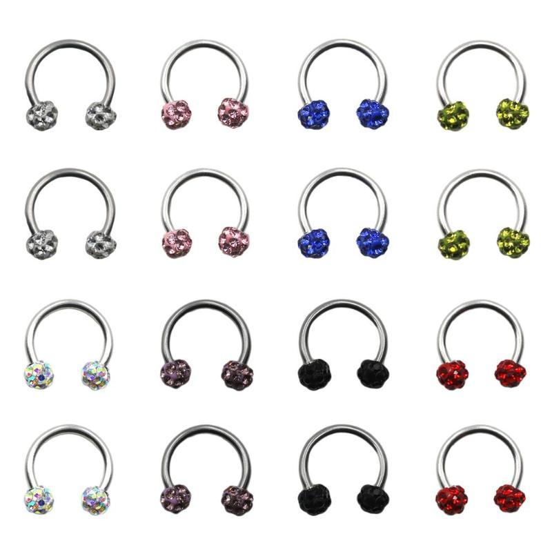 Industrial Piercing 1 pcs Pack Fashion Spiral Stainless Steel Rod Nose Ring Different Color Body Jewelry Woman Accessories